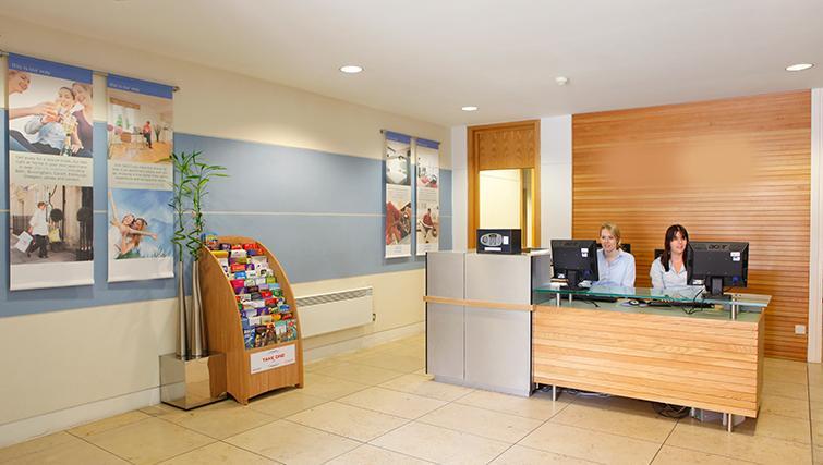Reception area at SACO Birmingham - Brindley Place - Citybase Apartments