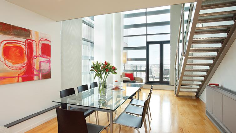 Dining table in SACO Birmingham - Brindley Place - Citybase Apartments