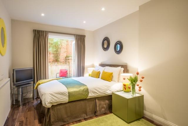 Double bed at Portobello Market Apartments - Citybase Apartments