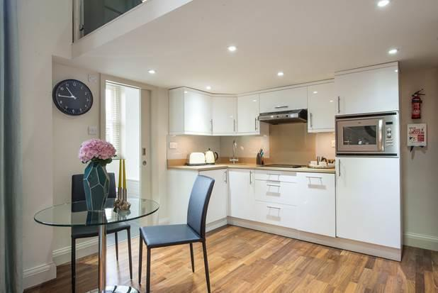 Kitchen facilities at Portobello Market Apartments - Citybase Apartments