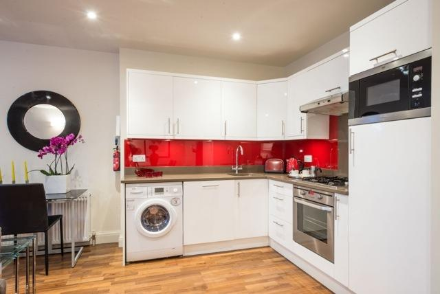 Modern kitchen at Portobello Market Apartments - Citybase Apartments