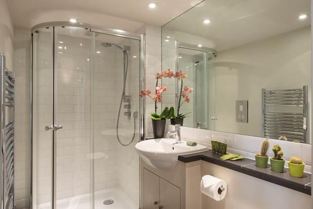 Shower at Portobello Market Apartments - Citybase Apartments
