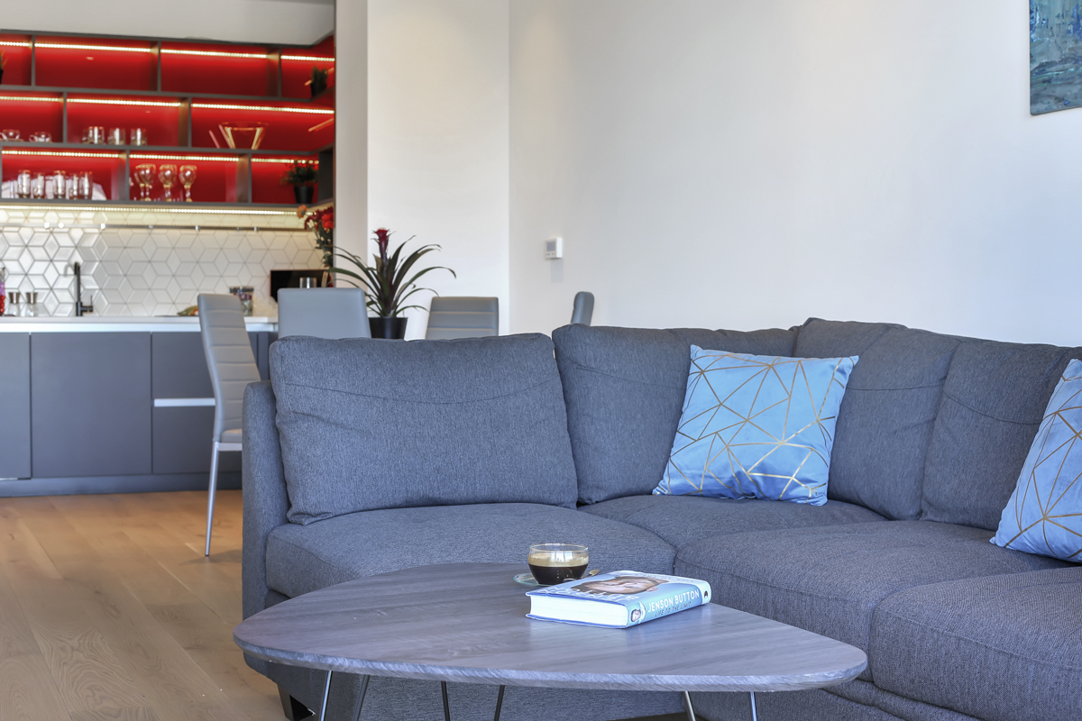 Sofa at Modena Serviced Apartments - Citybase Apartments