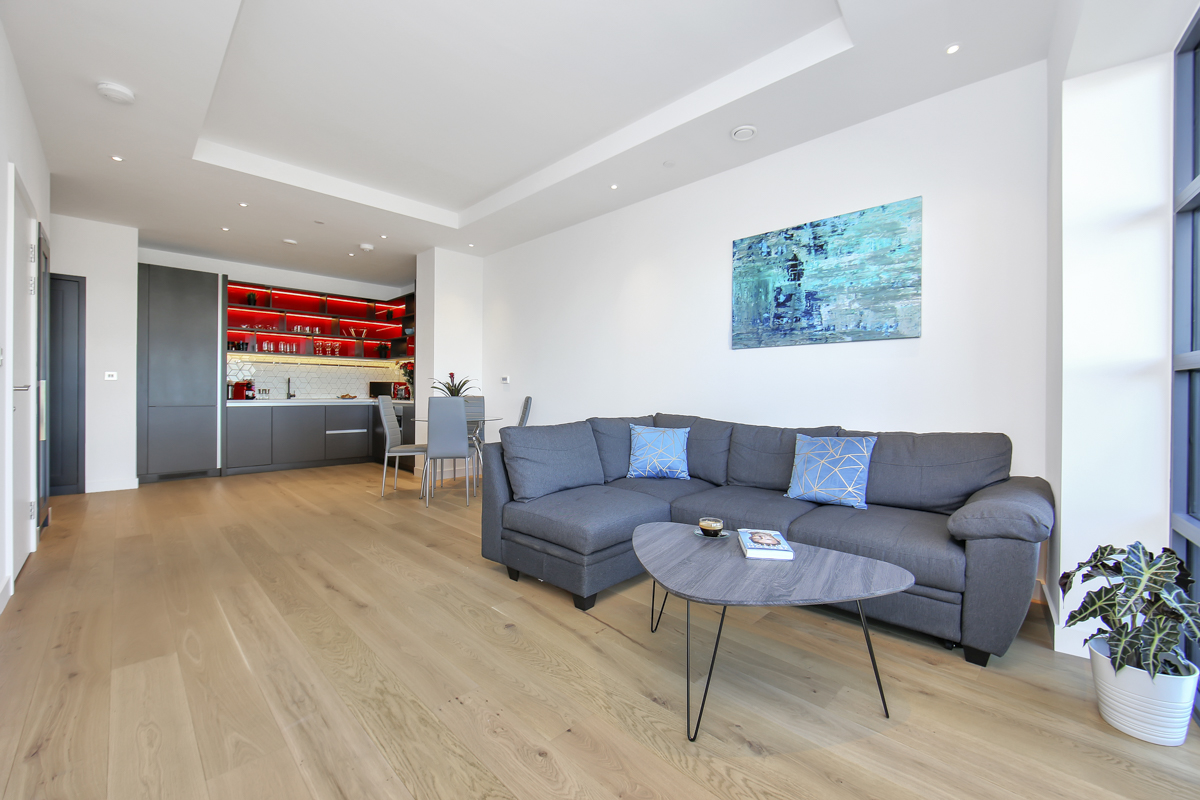 Living room at Modena Serviced Apartments - Citybase Apartments