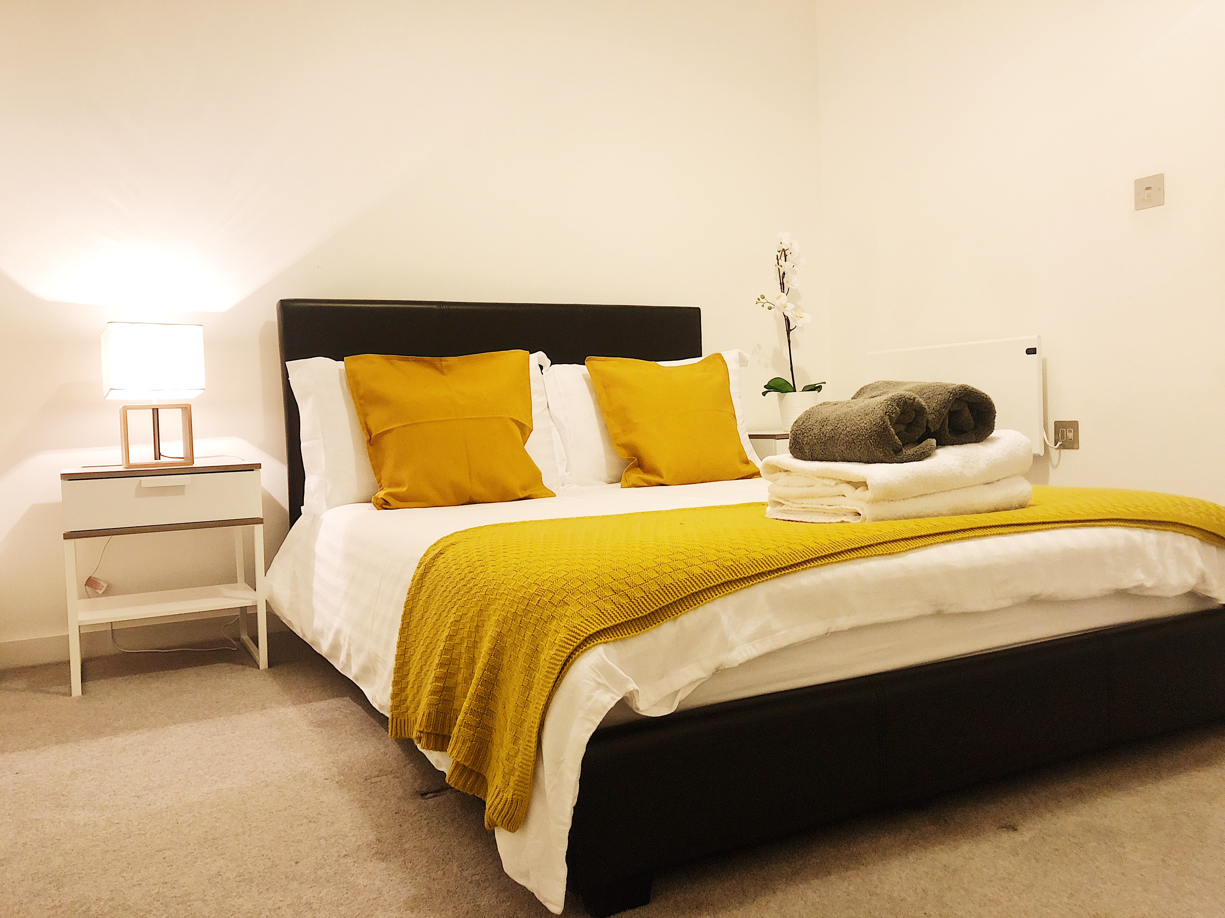 Modern bedroom at Ekhaya Apartments - Citybase Apartments