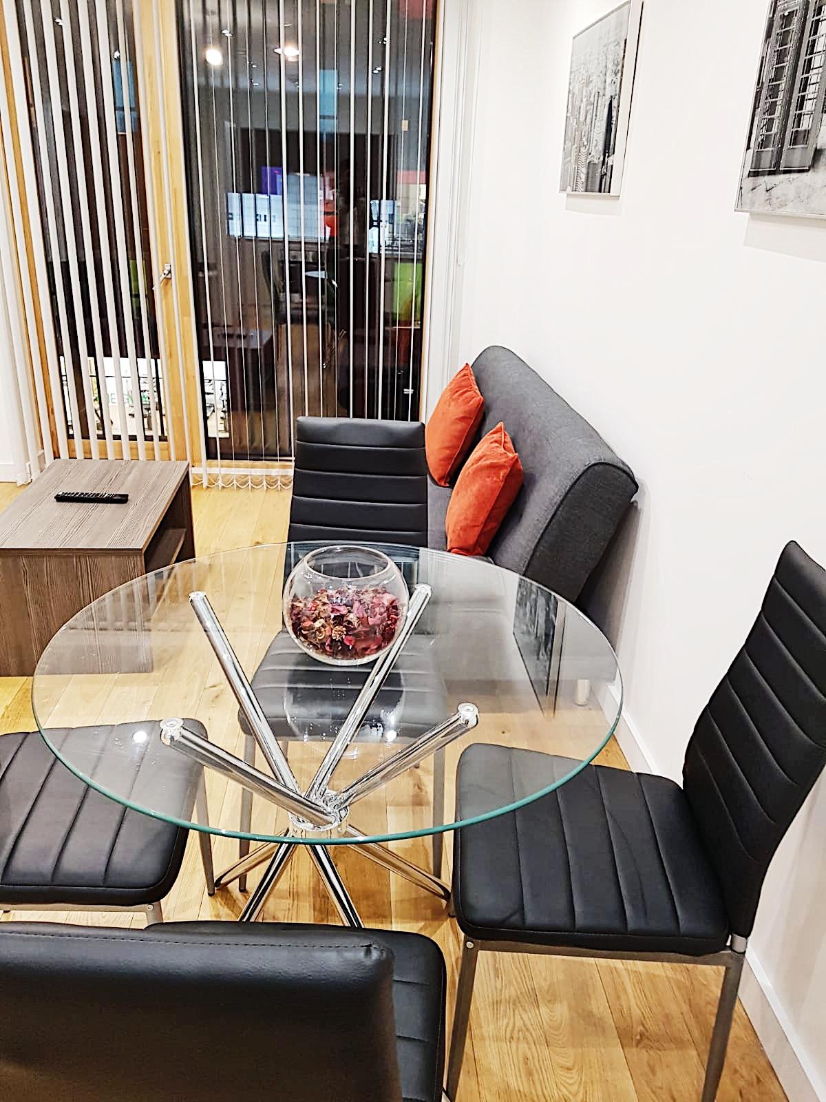 Dining table at Ekhaya Apartments - Citybase Apartments