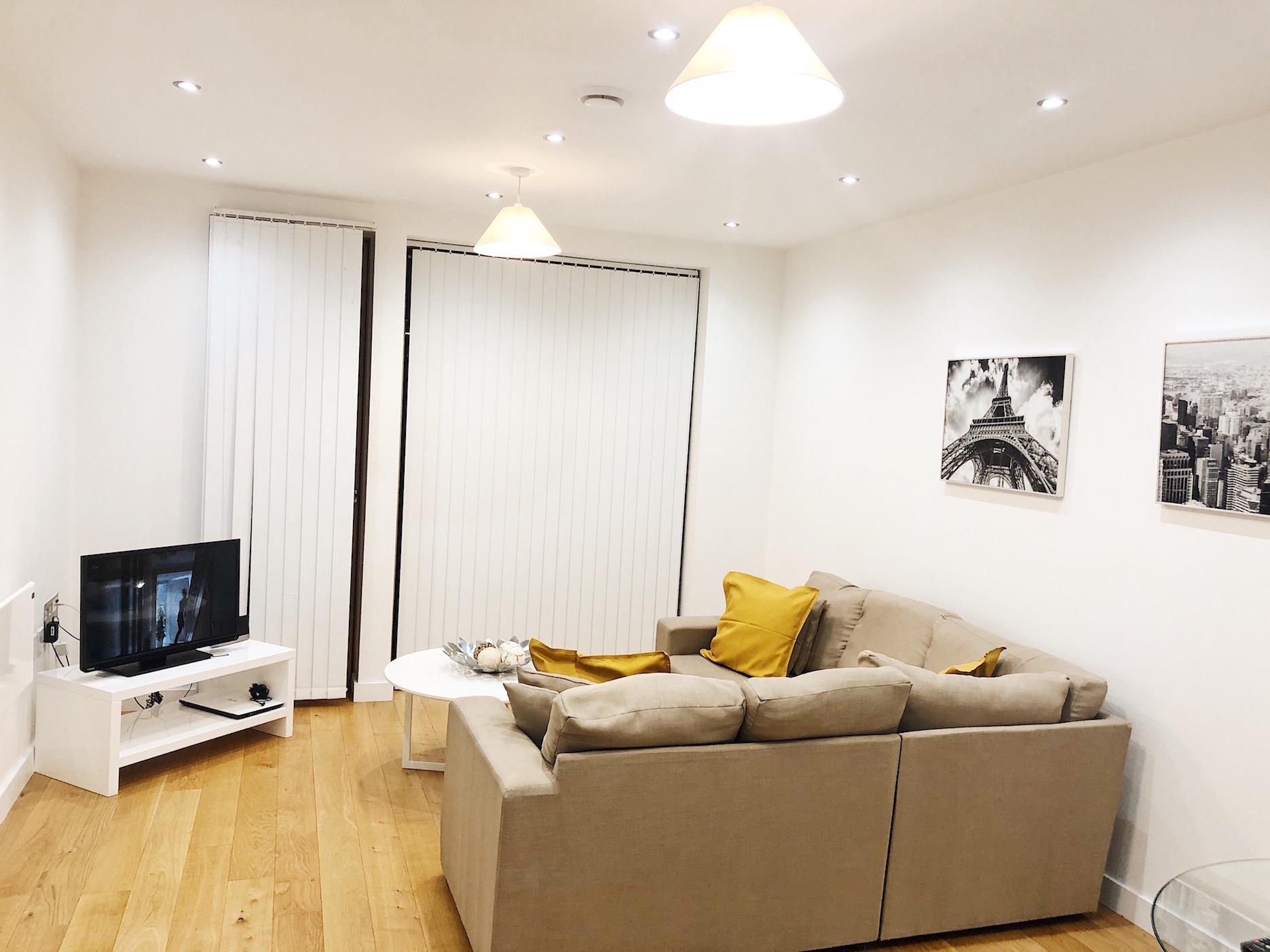 Living room at Ekhaya Apartments - Citybase Apartments