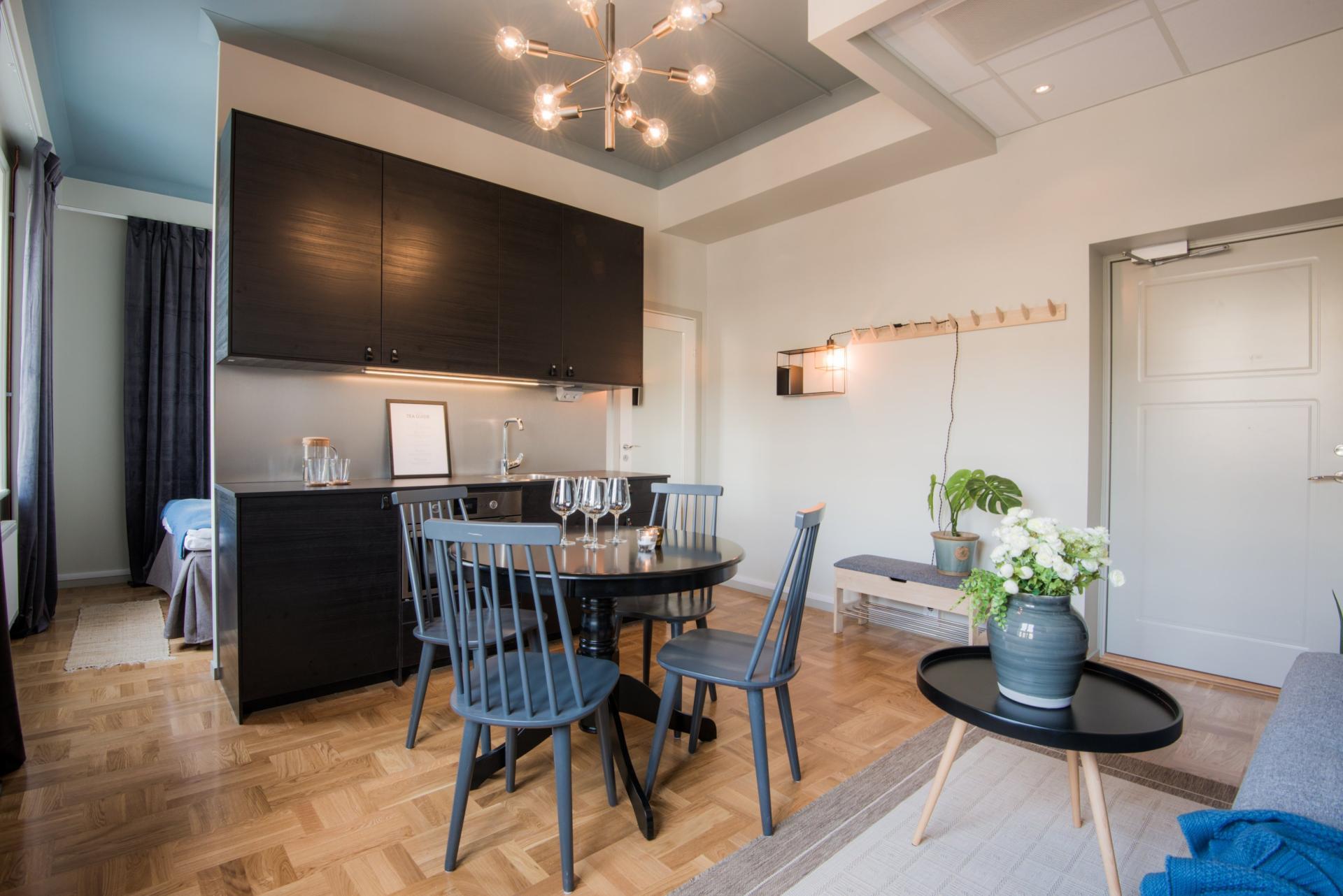 Kitchen at Voltavagen Apartment - Citybase Apartments