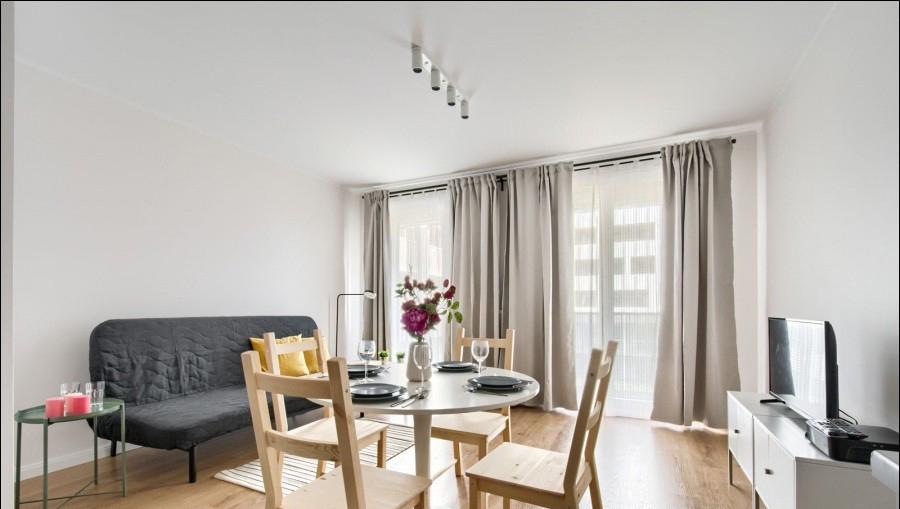 Living room at Apartments Soho Factory - Citybase Apartments