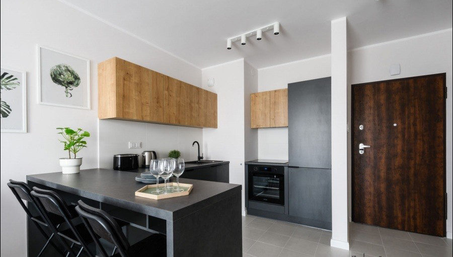 Kitchen at Apartments Soho Factory - Citybase Apartments