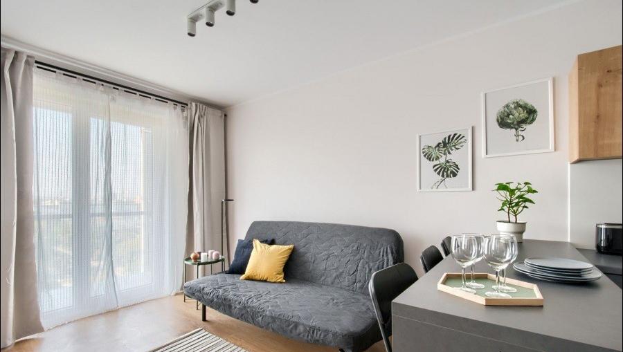Bright living area at Apartments Soho Factory - Citybase Apartments