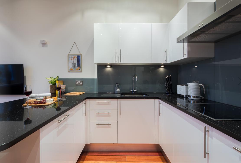 Kitchen at Lexham Gardens Apartments - Citybase Apartments