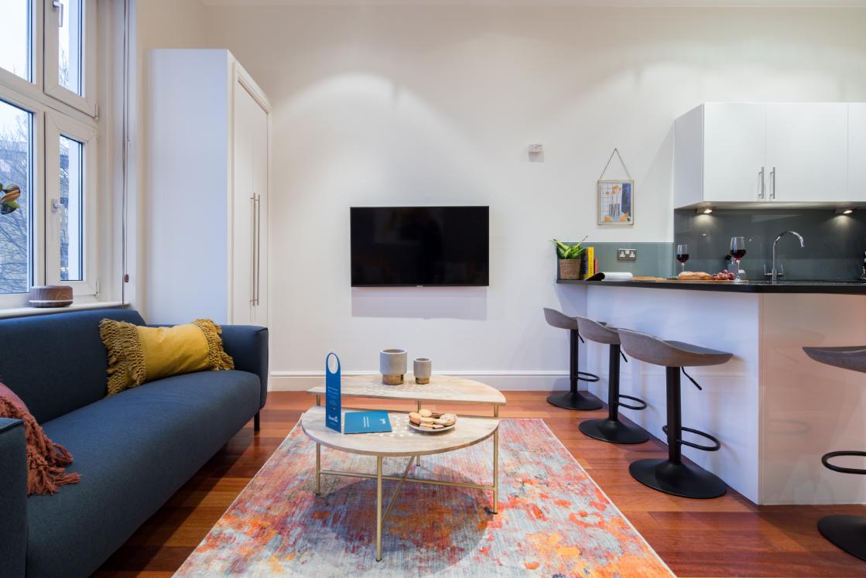 TV at Lexham Gardens Apartments - Citybase Apartments