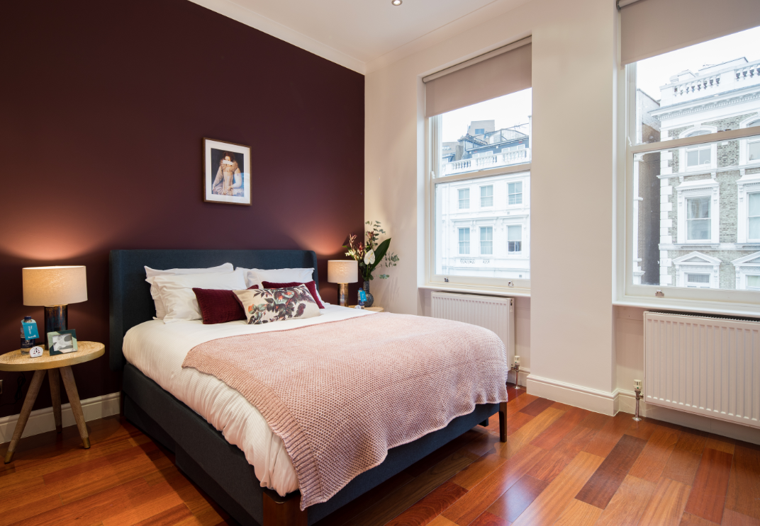 Bedroom at Lexham Gardens Apartments - Citybase Apartments