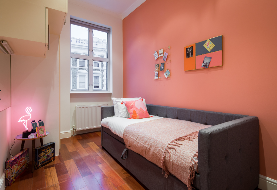 Single sofa bed at Lexham Gardens Apartments - Citybase Apartments