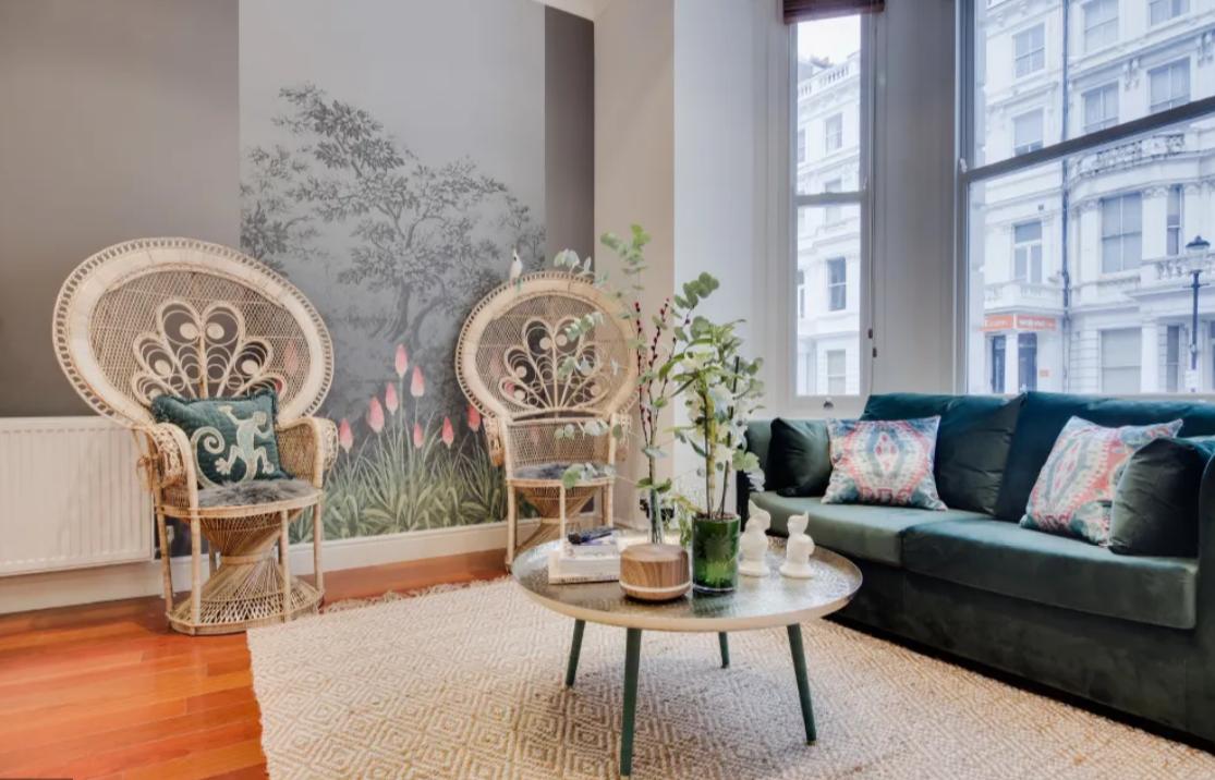Sofa at Lexham Gardens Apartments - Citybase Apartments