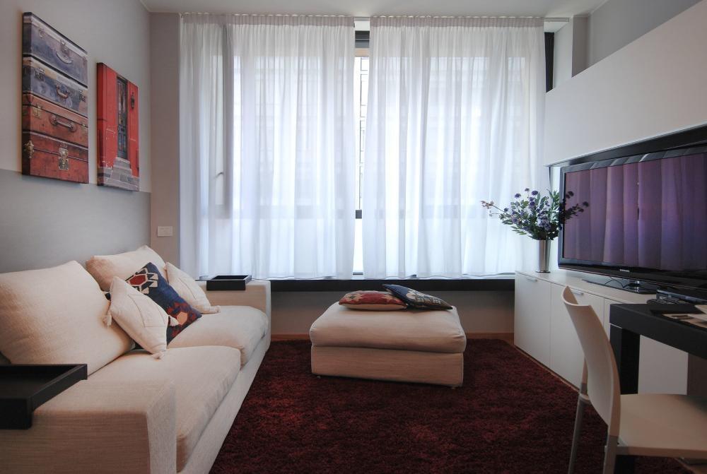 Living room at Larga Apartment - Citybase Apartments