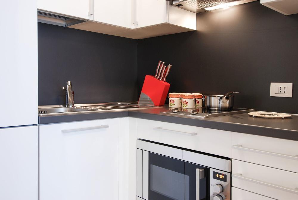 Kitchen at Larga Apartment - Citybase Apartments