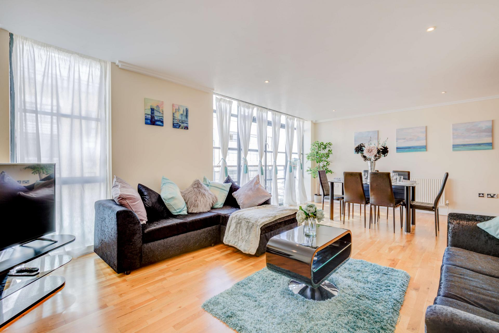Living room at Town Meadow Apartment - Citybase Apartments