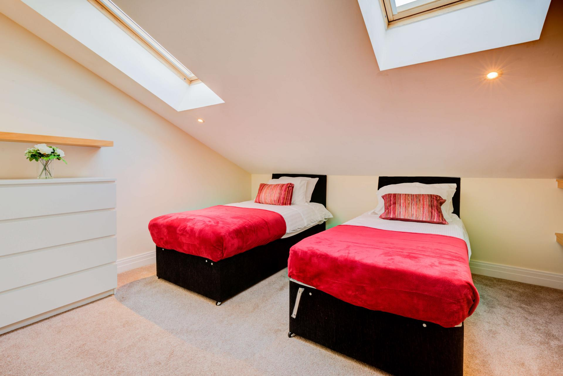 Charming bedroom at Town Meadow Apartment - Citybase Apartments