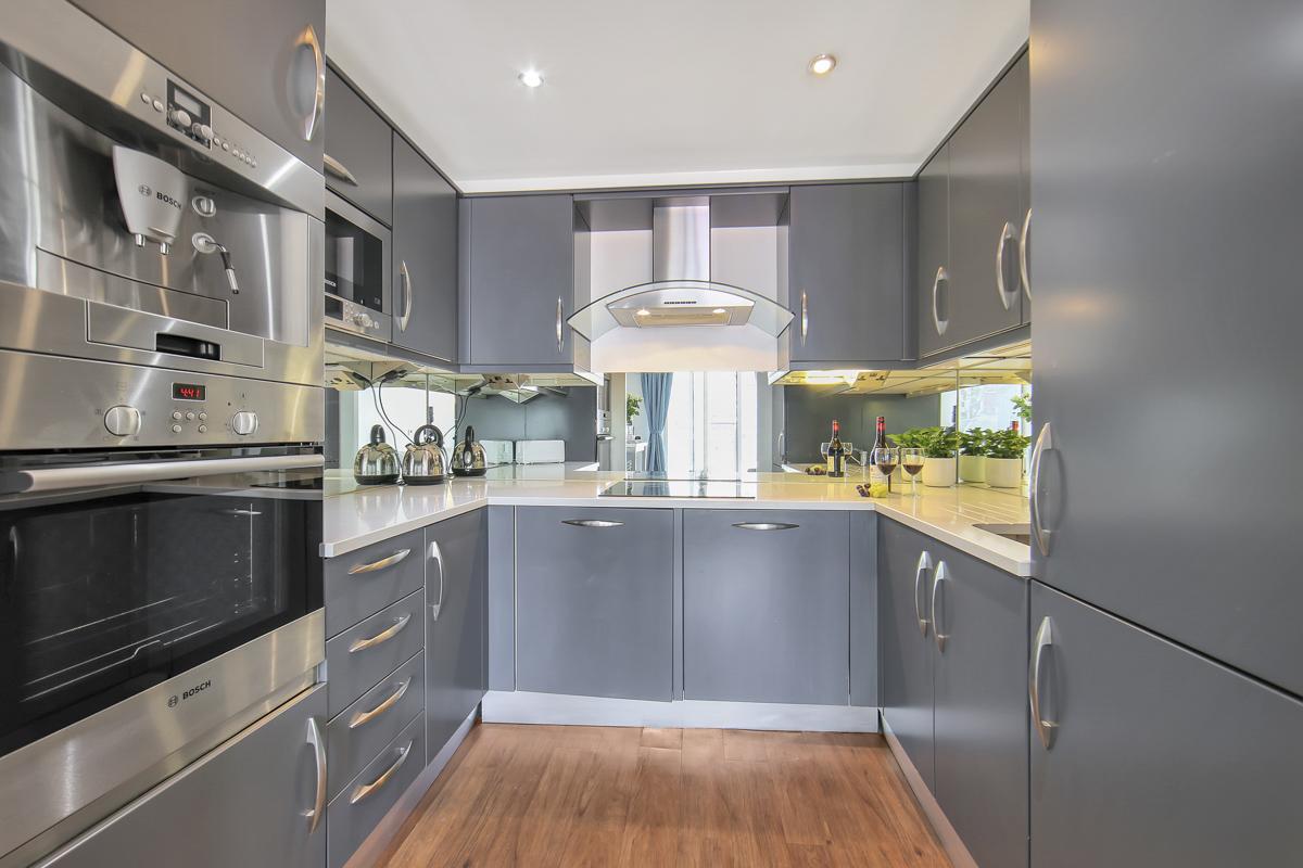Modern kitchen at Oxygen Apartments - Citybase Apartments