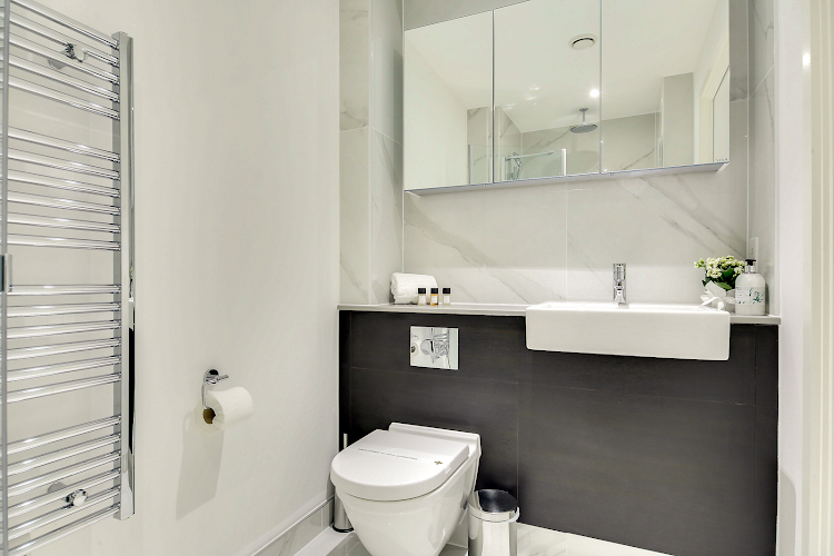 Bathroom at Emerson Court Apartments - Citybase Apartments