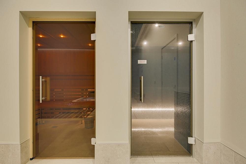 Sauna at Emerson Court Apartments - Citybase Apartments