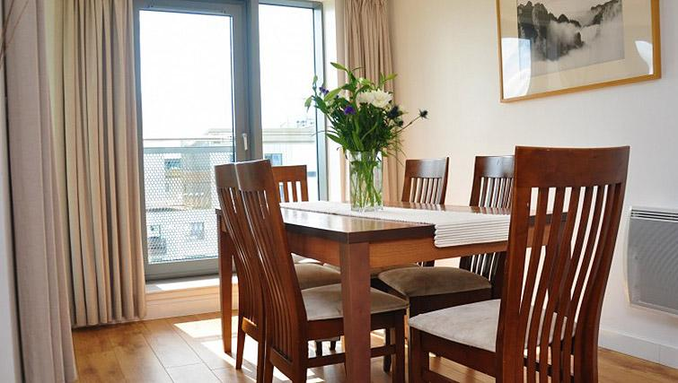 Dining space at Ocean Serviced Apartments - Citybase Apartments