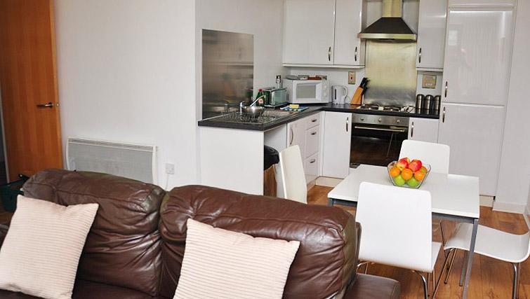 Living area/kitchen at Ocean Serviced Apartments - Citybase Apartments