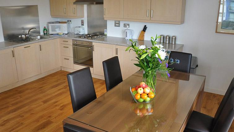 Equipped kitchen at Ocean Serviced Apartments - Citybase Apartments