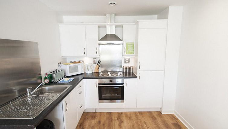 Fully equipped kitchen at Ocean Serviced Apartments - Citybase Apartments