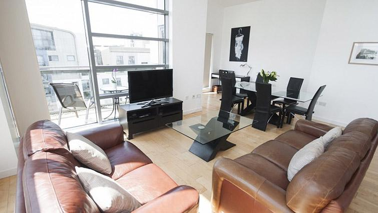 Stylish living area at Ocean Serviced Apartments - Citybase Apartments