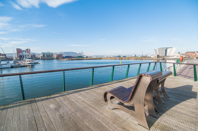 Bench at Titanic Arc Apartments - Citybase Apartments