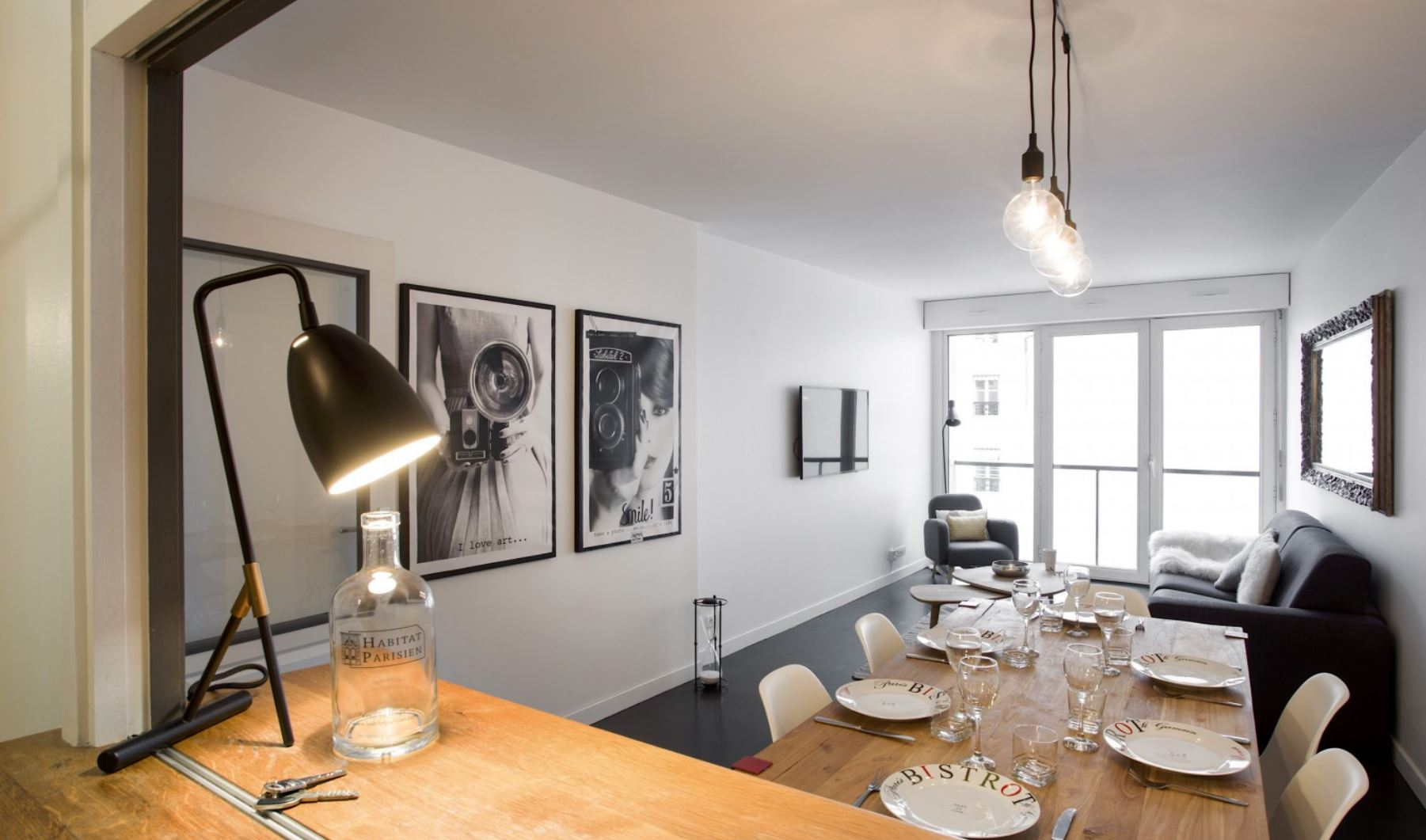 Dining table at Vivienne Apartment - Citybase Apartments