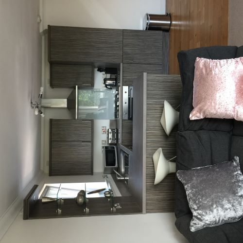 Kitchen at Botanic Hub West End Apartment - Citybase Apartments