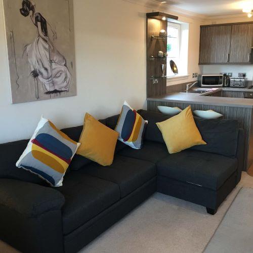 Sofa at Botanic Hub West End Apartment - Citybase Apartments
