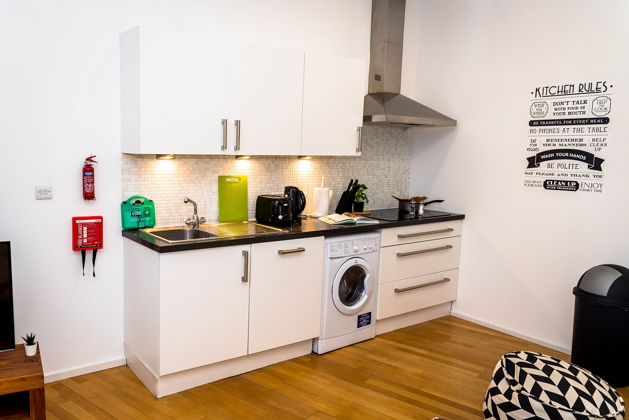 Kitchen at Radford Apartment, Basford, Nottingham - Citybase Apartments