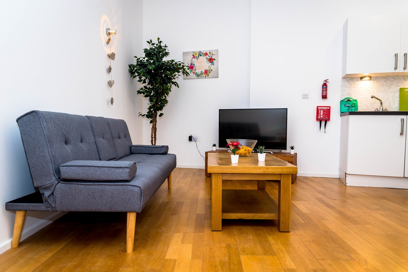 Living area at Radford Apartment, Basford, Nottingham - Citybase Apartments