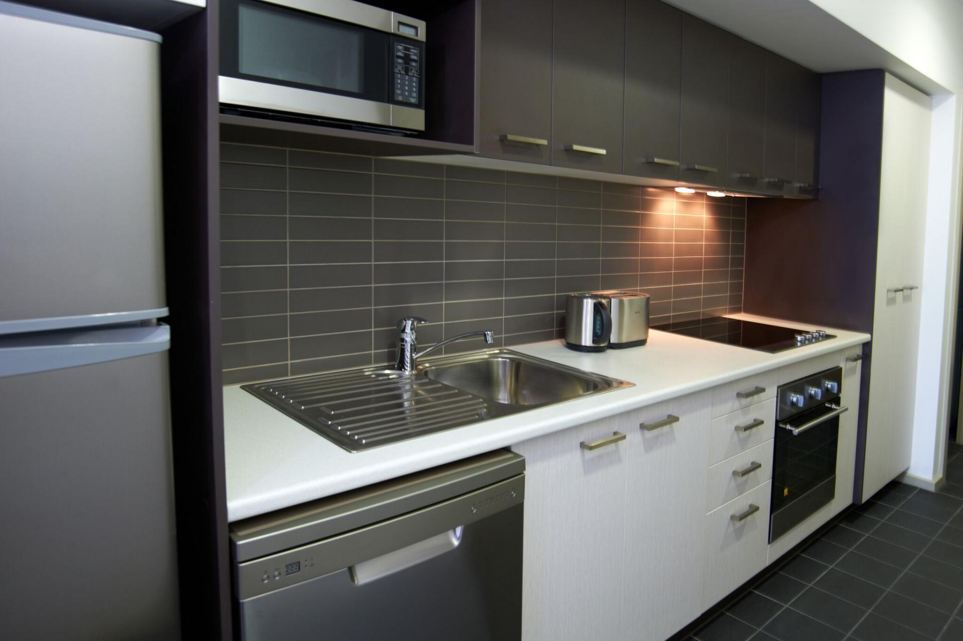 Kitchen at Quest Werribee - Citybase Apartments
