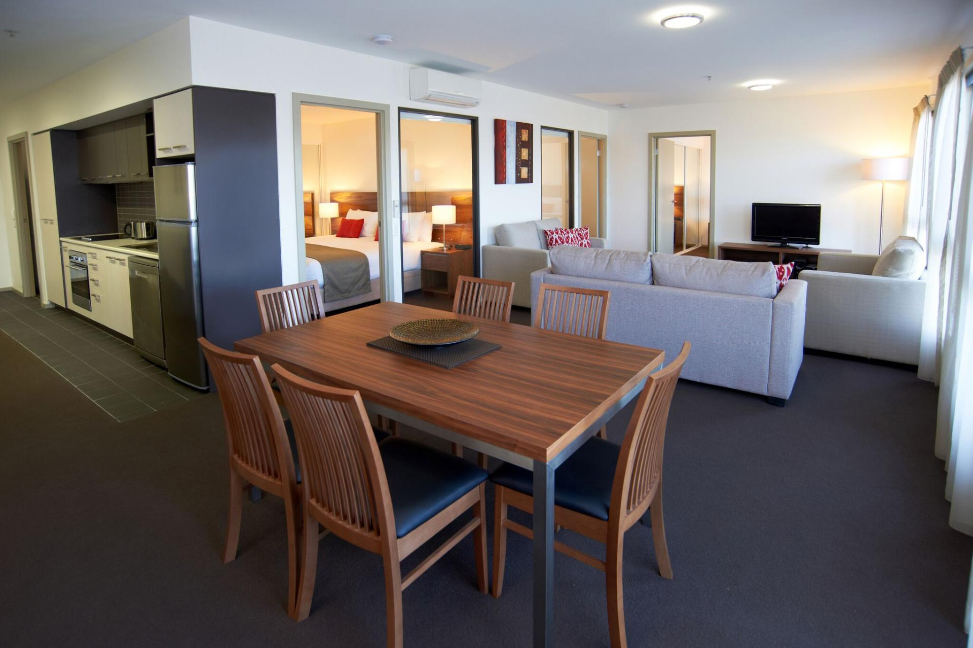 Dining table at Quest Werribee - Citybase Apartments