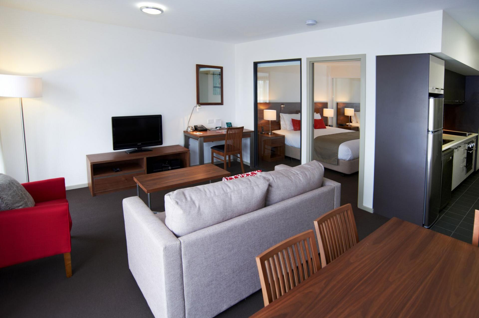Living room at Quest Werribee - Citybase Apartments