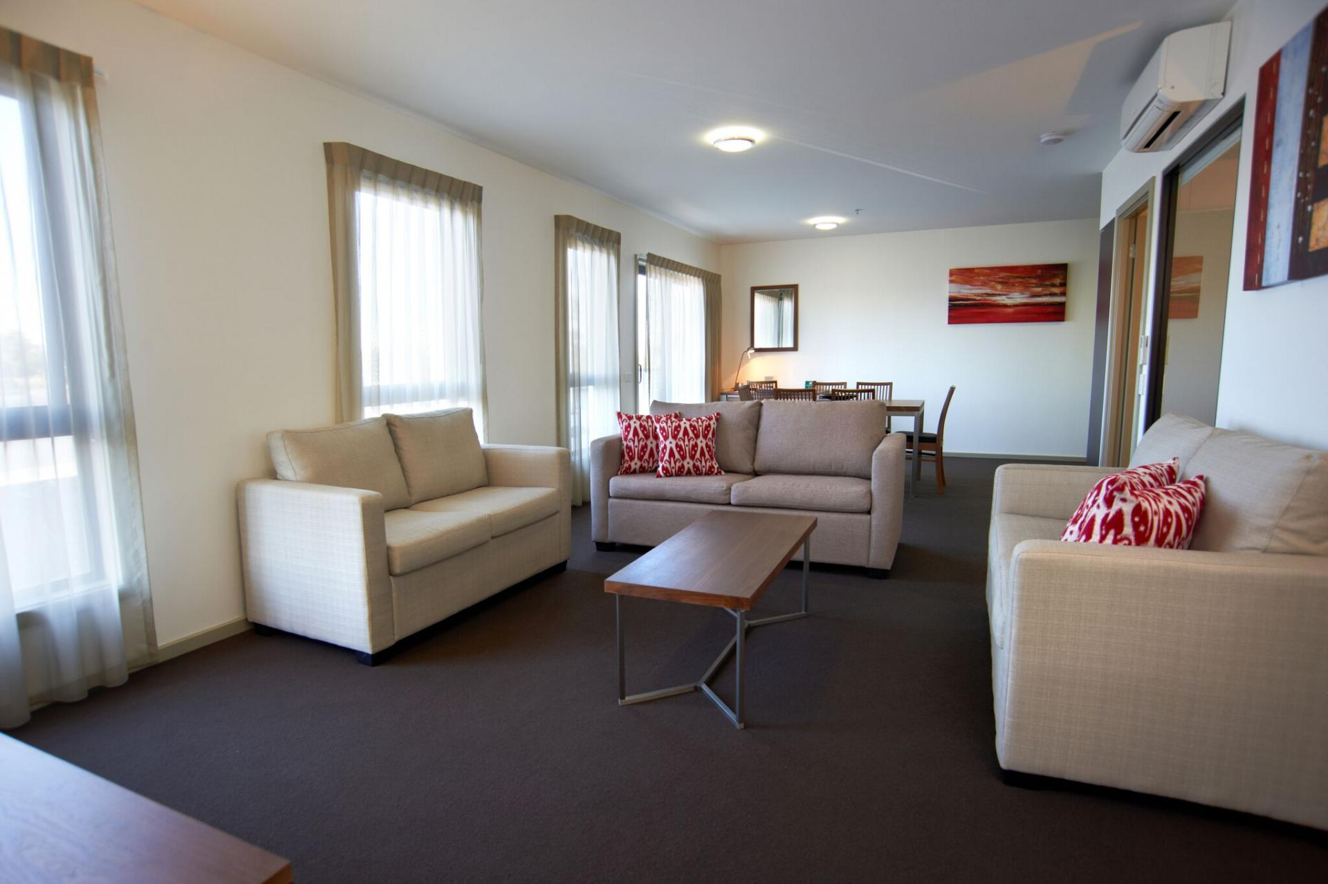 Lounge at Quest Werribee - Citybase Apartments