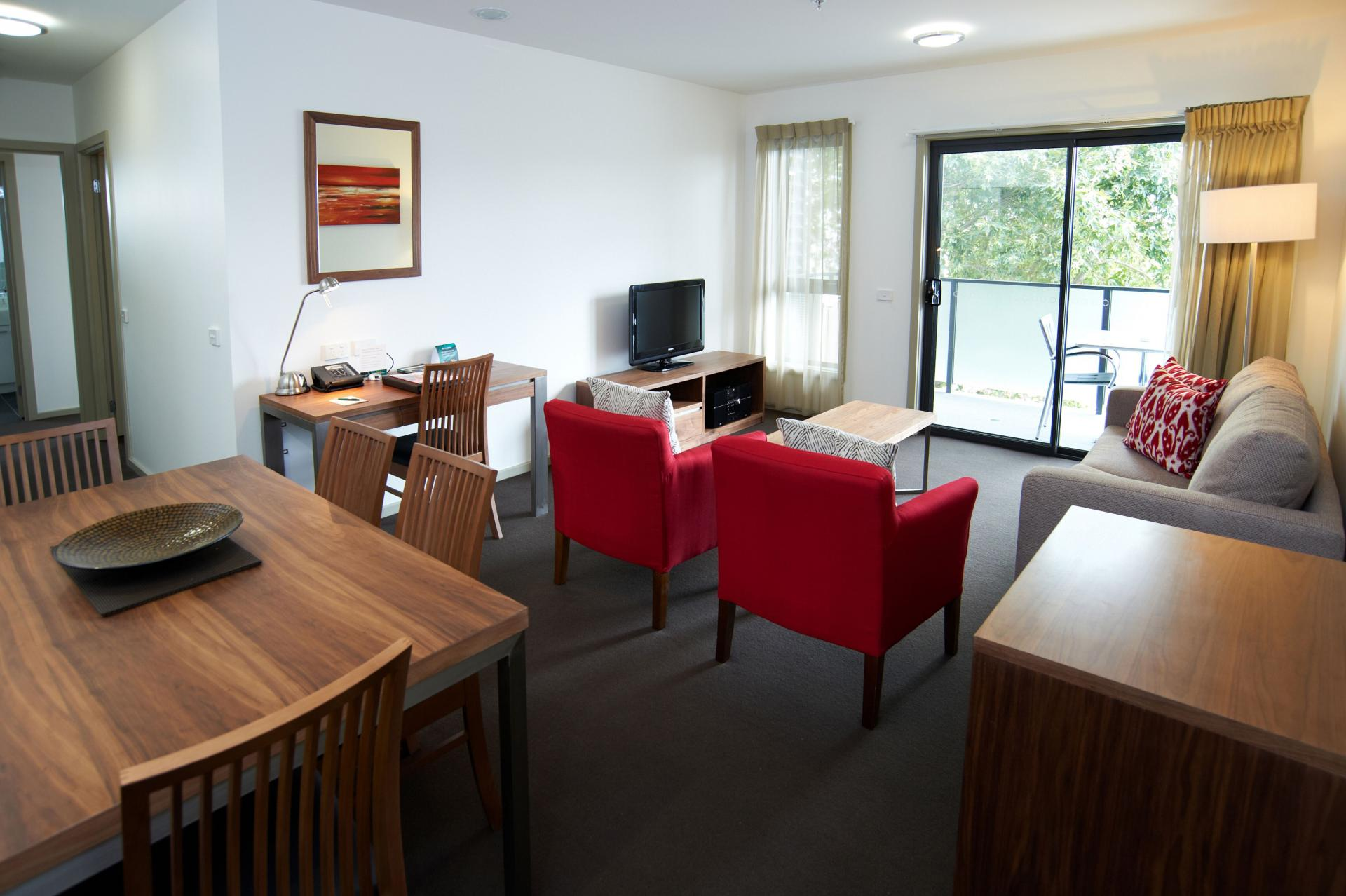Spacious living area at Quest Werribee - Citybase Apartments