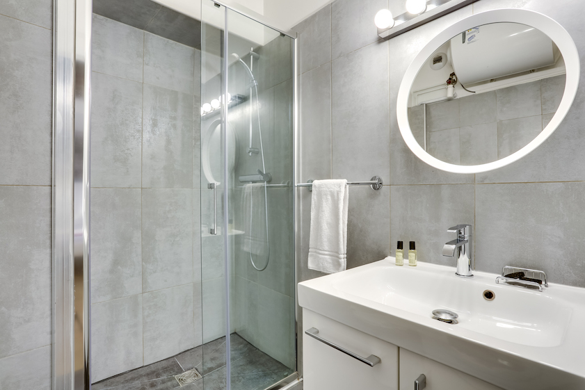 Bathroom at Rue Marsollier Apartment - Citybase Apartments
