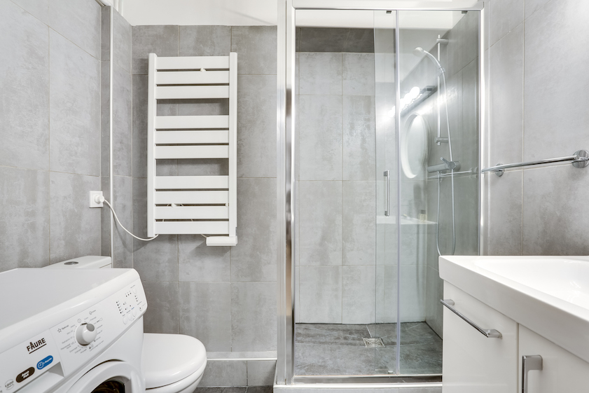 Shower at Rue Marsollier Apartment - Citybase Apartments