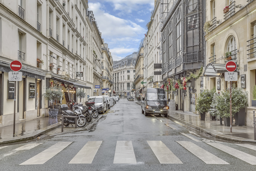 Local street at Rue Marsollier Apartment - Citybase Apartments