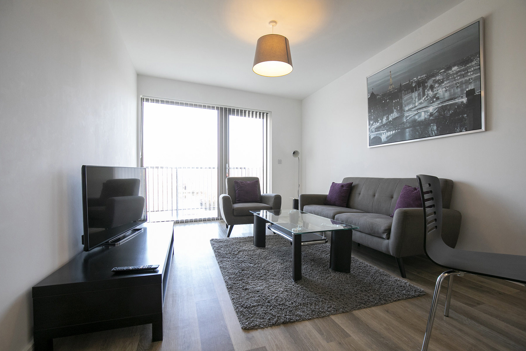 Living room at Wey Corner Apartment, Centre, Guildford - Citybase Apartments