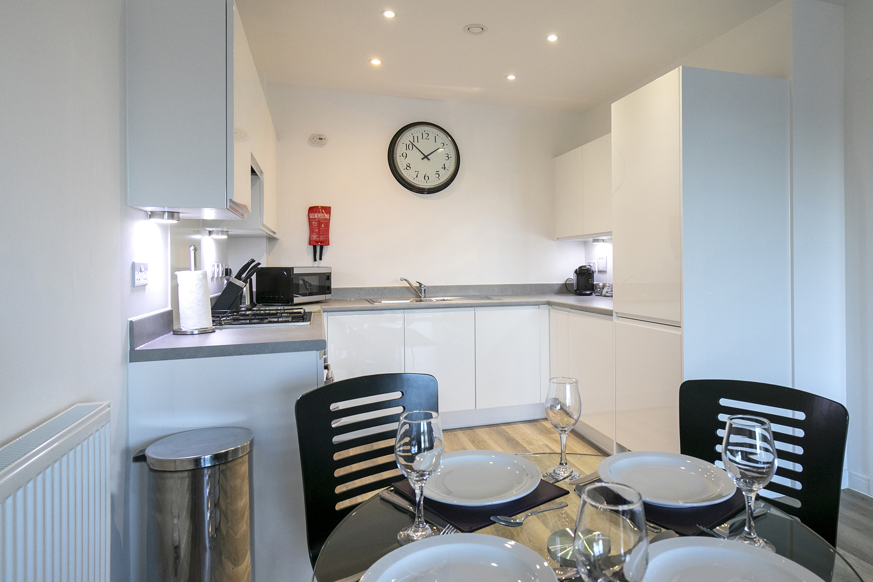 Kitchen at Wey Corner Apartment, Centre, Guildford - Citybase Apartments