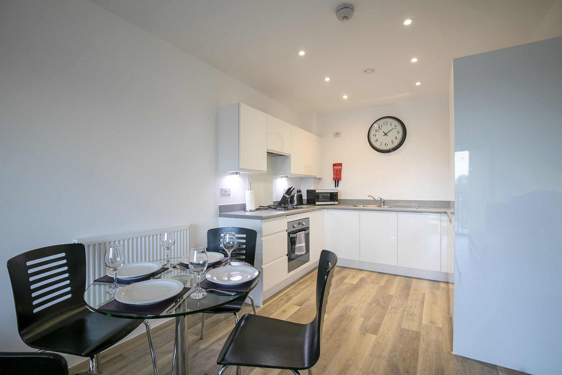 Dining area at Wey Corner Apartment, Centre, Guildford - Citybase Apartments