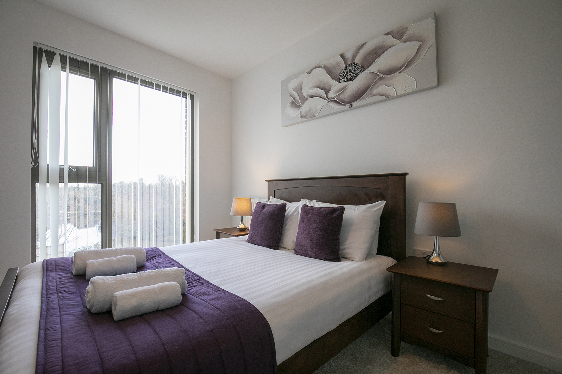 Bed at Wey Corner Apartment, Centre, Guildford - Citybase Apartments